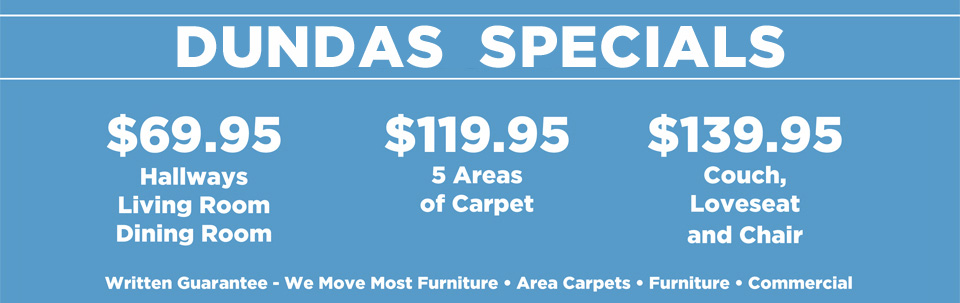 Carpet Cleaning Specials in Dundas